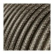 Στρογγυλό Υφασμάτινο Γυαλιστερό Καλώδιο RL03 - Γκρι