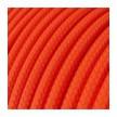 Στρόγγυλο Υφασμάτινο καλώδιο εύκαμπτο RF15 - Φωσφοριζέ Πορτοκαλί