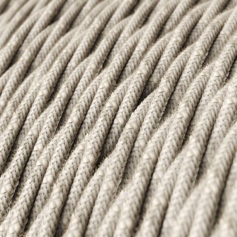 Στριφτό Υφασμάτινο Καλώδιο - TN01 Φυσικό Μπεζ Μάλλινο