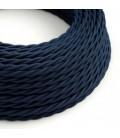 Στριφτό Υφασμάτινο Καλώδιο TM20 - Πολύ Σκούρο Μπλε