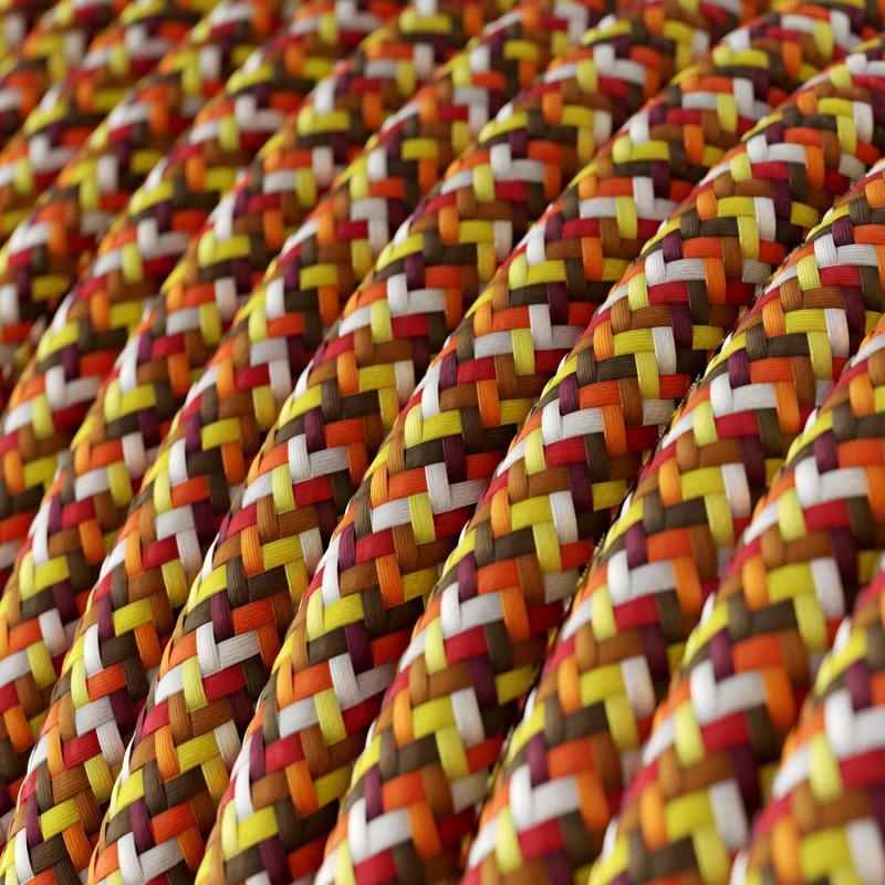 Υφασμάτινο Στρόγγυλο Καλώδιο RX01 - πορτοκαλί Pixel