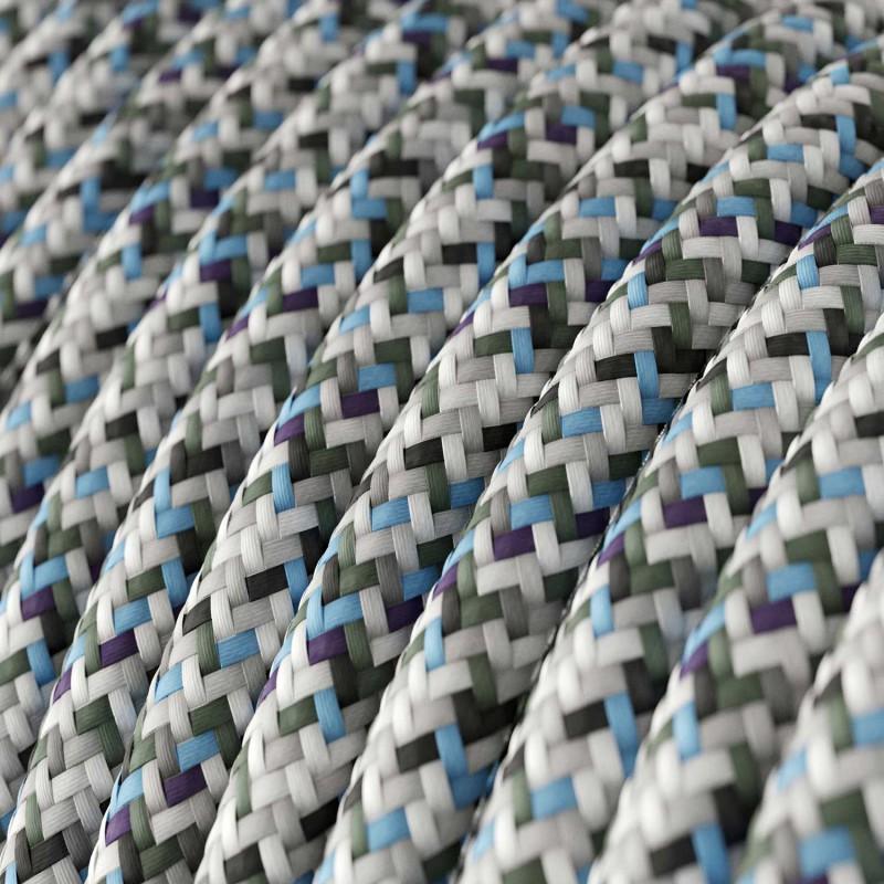 Υφασμάτινο Στρόγγυλο Καλώδιο RX04 - Λευκό Pixel