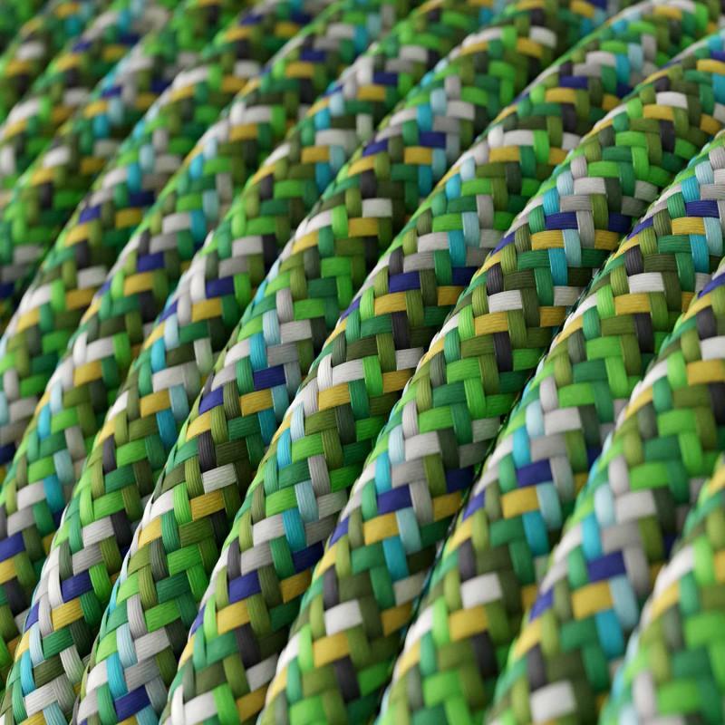 Υφασμάτινο Στρόγγυλο Καλώδιο RX05 - πράσινο Pixel