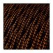 Στριφτό Υφασμάτινο ΚΑλώδιο - TZ22 Μαύρο - Χάλκινο