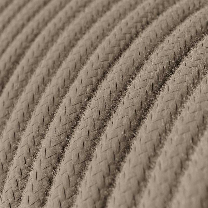 Στρόγγυλο Υφασμάτινο Καλώδιο Καλυμμένο από Κρεμ Βαμβάκι RC43