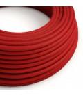 Στρογγυλό Υφασμάτινο Καλώδιο από Κόκκινο Βαμβάκι RC35