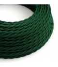 Στριφτό Υφασμάτινο Καλώδιο TM21 Σκούρο Πράσινο