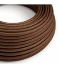Στρόγγυλο Υφασμάτινο Καλώδιο - RM36 Καφέ Σκουριά