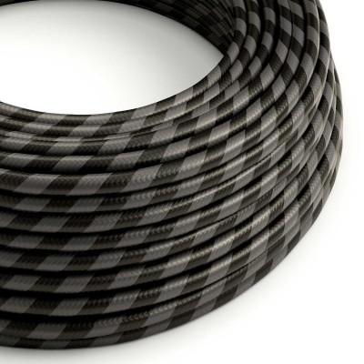 Στρόγγυλο Υφασμάτινο Καλώδιο Vertigo HD ERM54 Μαύρο Ανθρακί Πλατιά Ρίγα