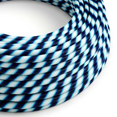 Στρόγγυλο Υφασμάτινο Καλώδιο Vertigo HD ERM60 Fade Μπλε