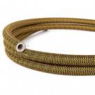 Creative-Tube Σωλήνας εύκαμπτος, Ψαροκόκκαλο Χρυσό και Μαύρο κάλυμμα RZ24, διάμετρος 20 mm για καλώδιο
