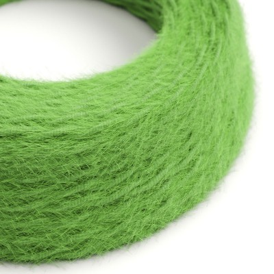 Στριφτό Υφασμάτινο Καλώδιο Burlesque εφέ ξεφτισμένο TP06 Πράσινο